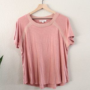 Rose and Olive Pink Crew Neck Tee XL